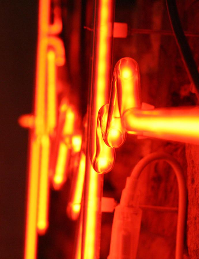 Lysende veggdekor, skilt, lysskilt, lysrør