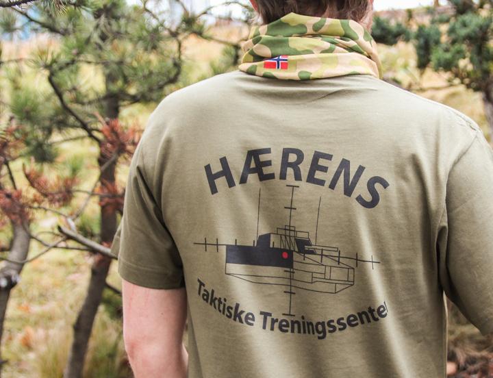T-skjorte Forsvaret, t-skjorte med trykk, t-skjorte med logo, firma t-skjorte
