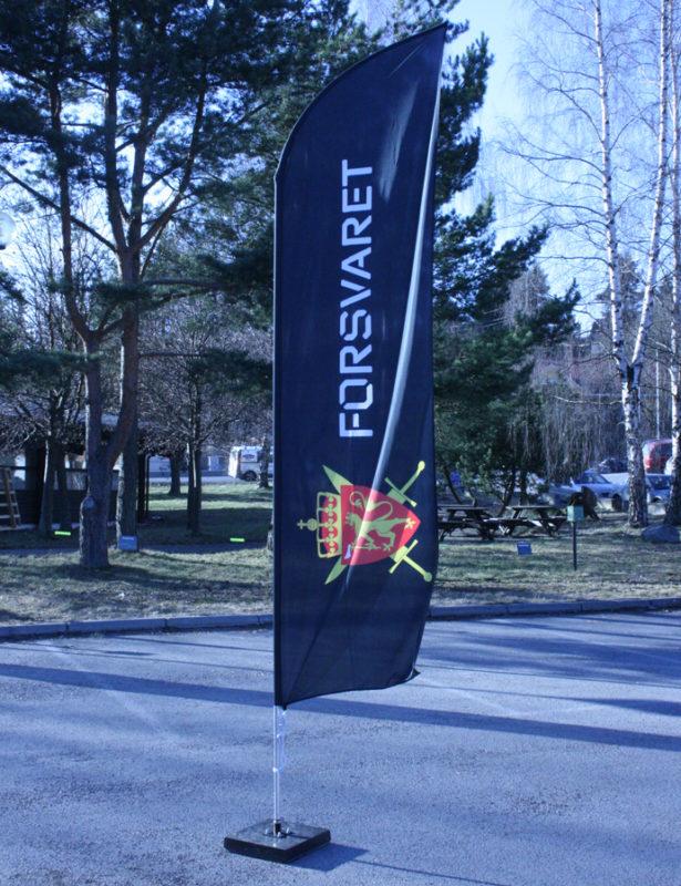 Beachflagg Forsvaret, flagg, strandflagg, reklameflagg