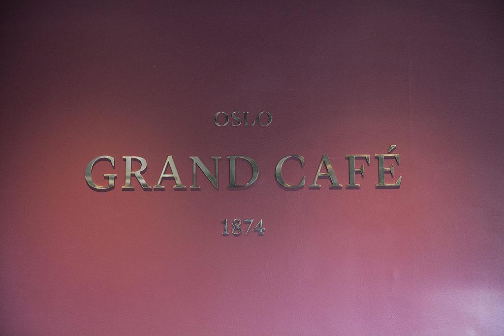 Skilt i messing, skilt, veggdekor, innendørs skilt, Grand Café