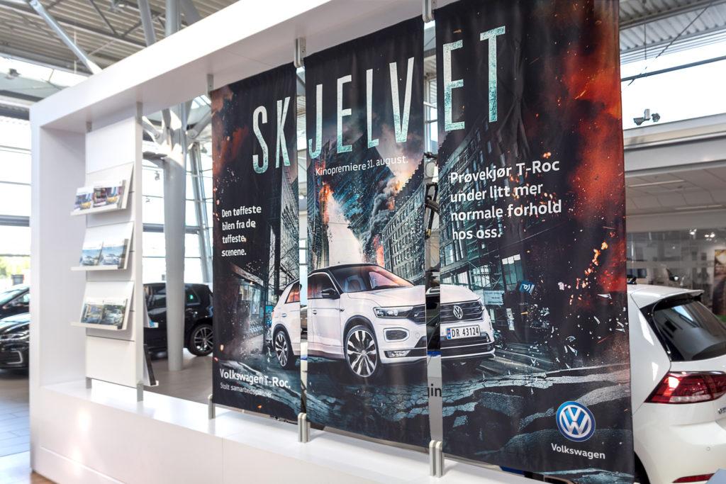 Posterduk, banner, reklamebanner, butikkbanner, Volkswagen