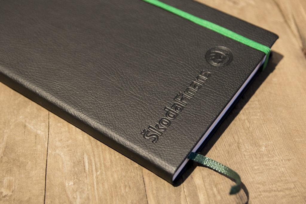 Notatbok Skoda, notatbok med logo, notebook