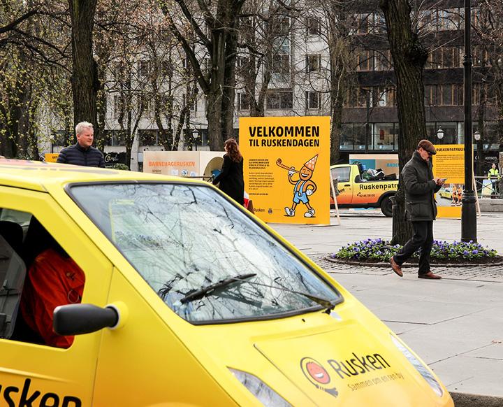 Ruskendagen i Oslo, messesystem, banner, bildekor