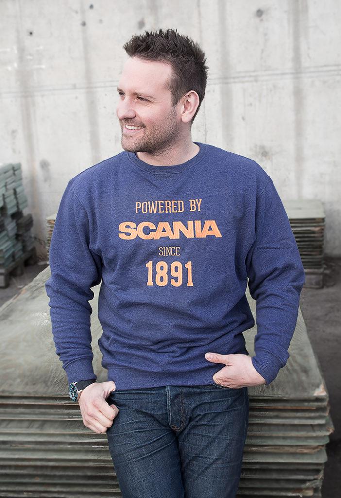 Spesialdesignet collegegenser Norsk Scania