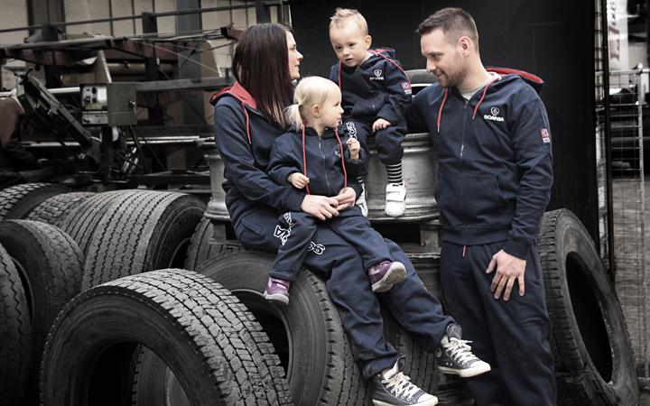 Joggedress Norsk Scania, spesialproduksjon, eget design