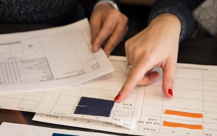 Spesialproduksjon av klær til Norsk Scania, profilklær, stoffprøver, fargeprøver