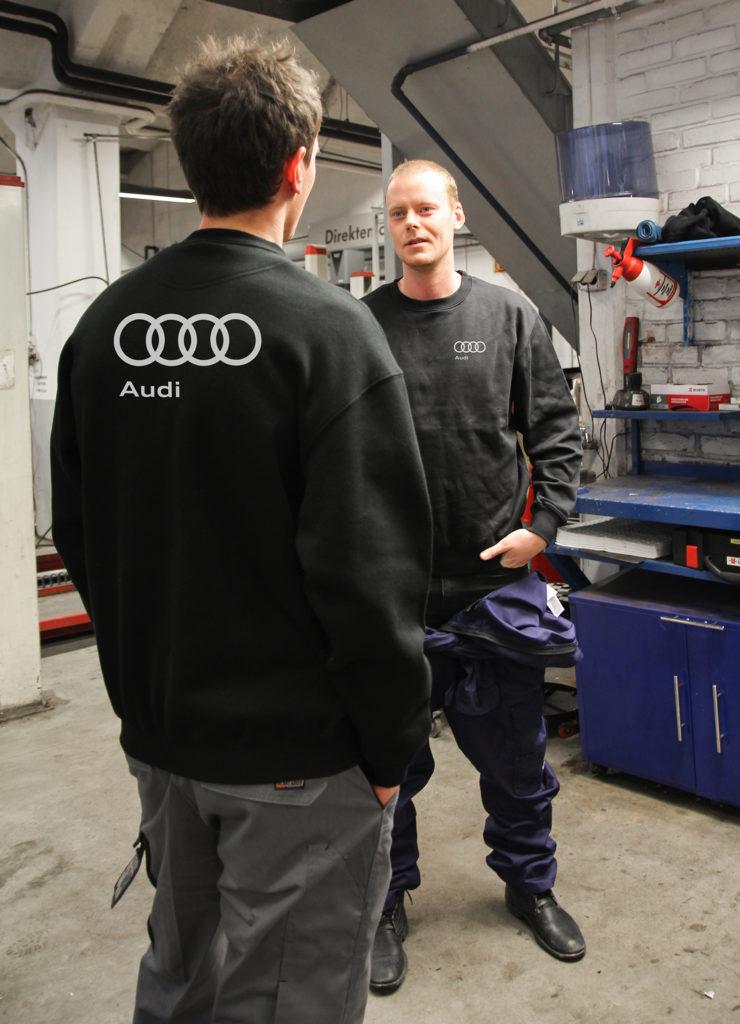 Arbeidstøy, Blãklader, logo, trykk på genser