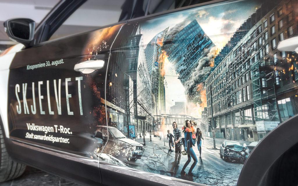 Bildekor, folie på bil, kampanjeprodukter.