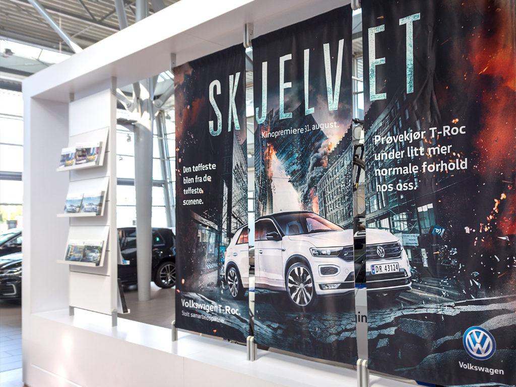 Banner, posterduker, trippelbanner, print på banner, Volkswagen