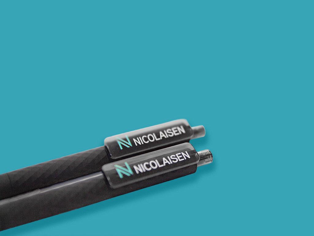 Kulepenn med logo, penn med firmalogo. Penn med trykk.