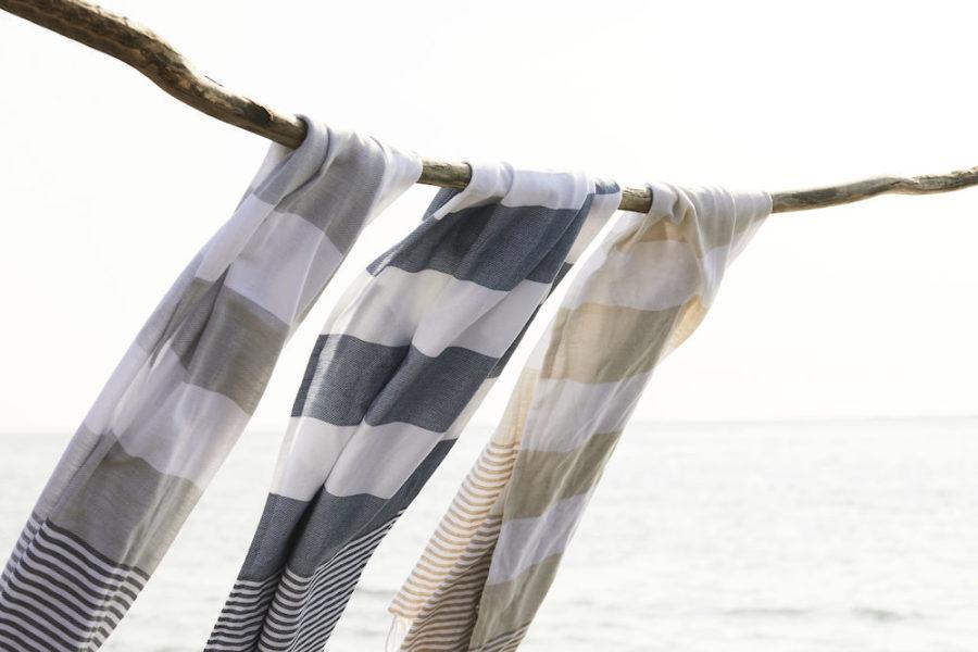 Myke og fine håndklær med logo, firmalogo, firmagave, sommergave