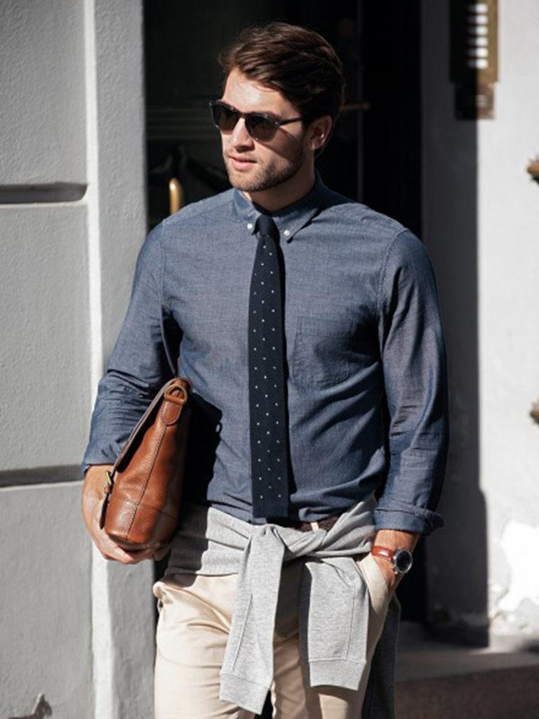 Nimbus skjorte herre, hvit, logo, firmalogo, firmaskjorte
