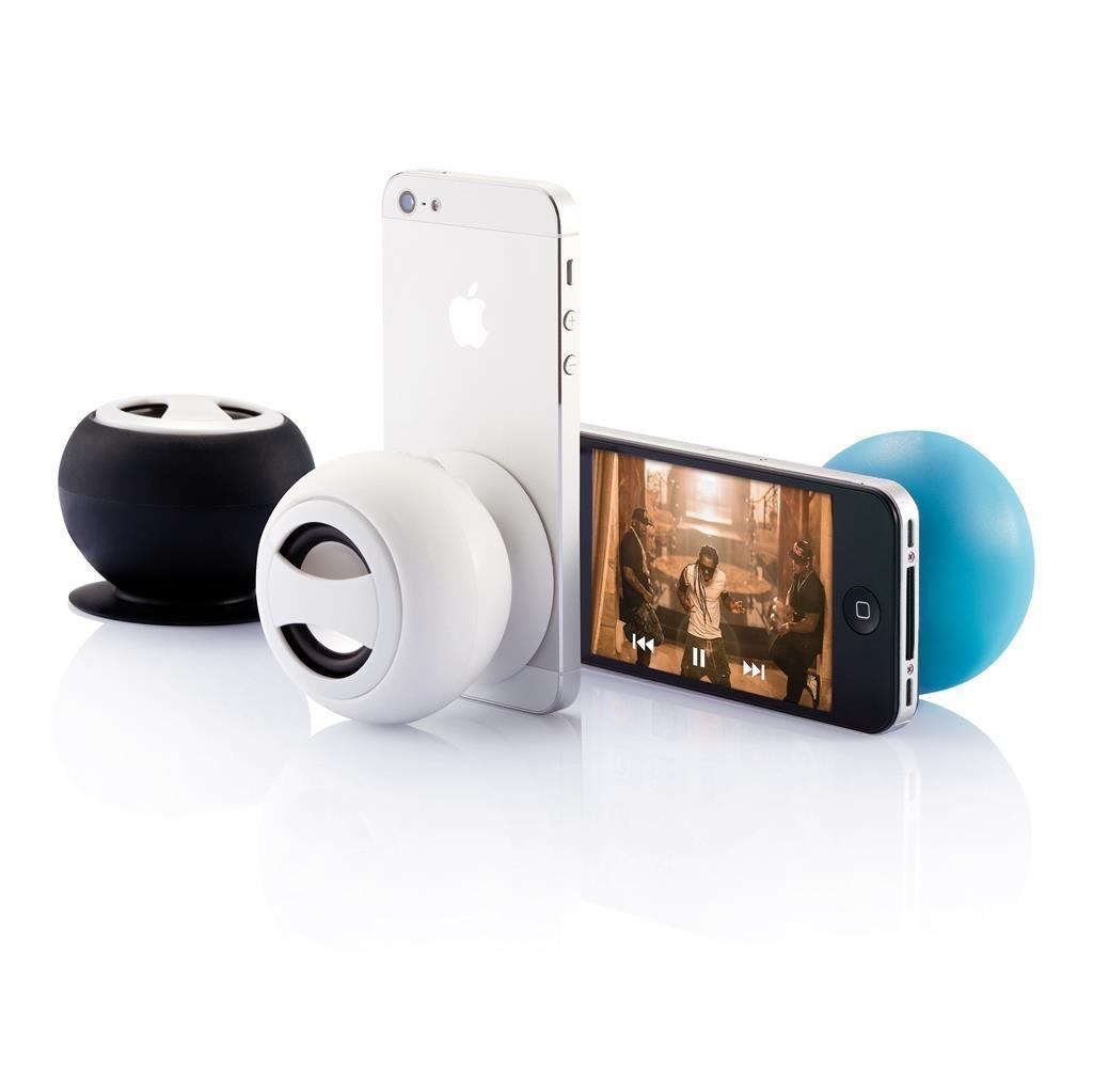 LIten høytlaer til å fest på mobilen, med firmalogo.