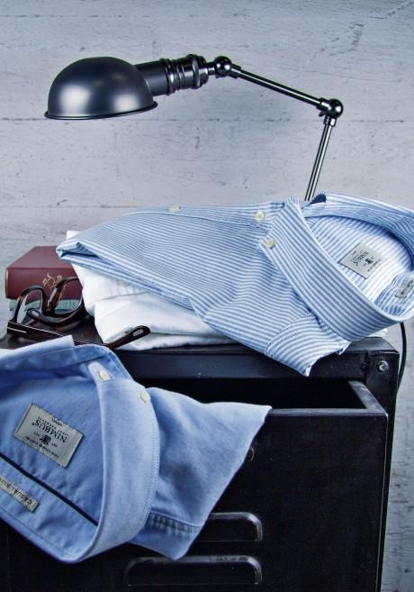 Nimbus skjorter, skjorter lysblå med logo