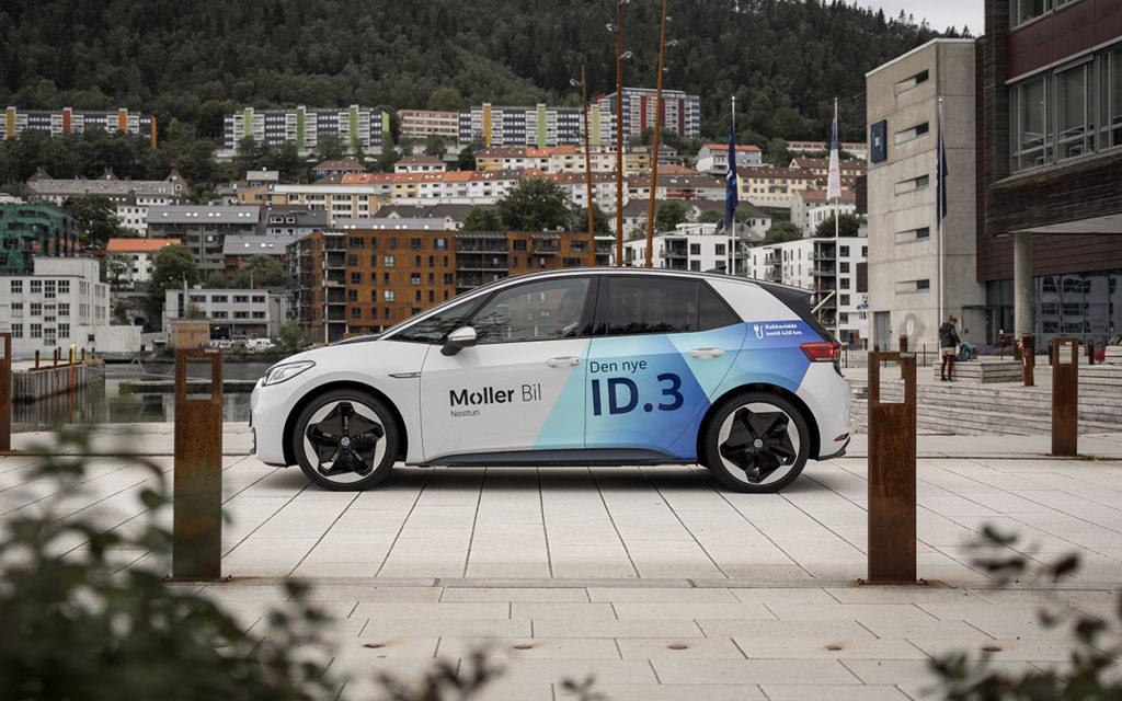 ID.3 Bildekor Volkswagen, Møller Bil, Folie på bil, bilfolie