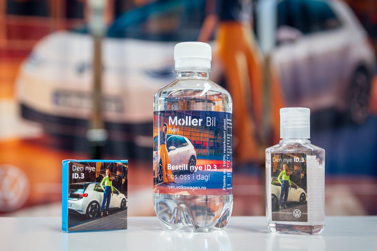 ID.3 vannflaske, drops og antibak