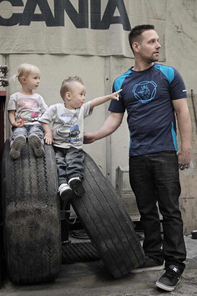 T-skjorte Norsk Scania, spesialproduksjon, spesialdesign av profil t-skjorte til Norsk Scania
