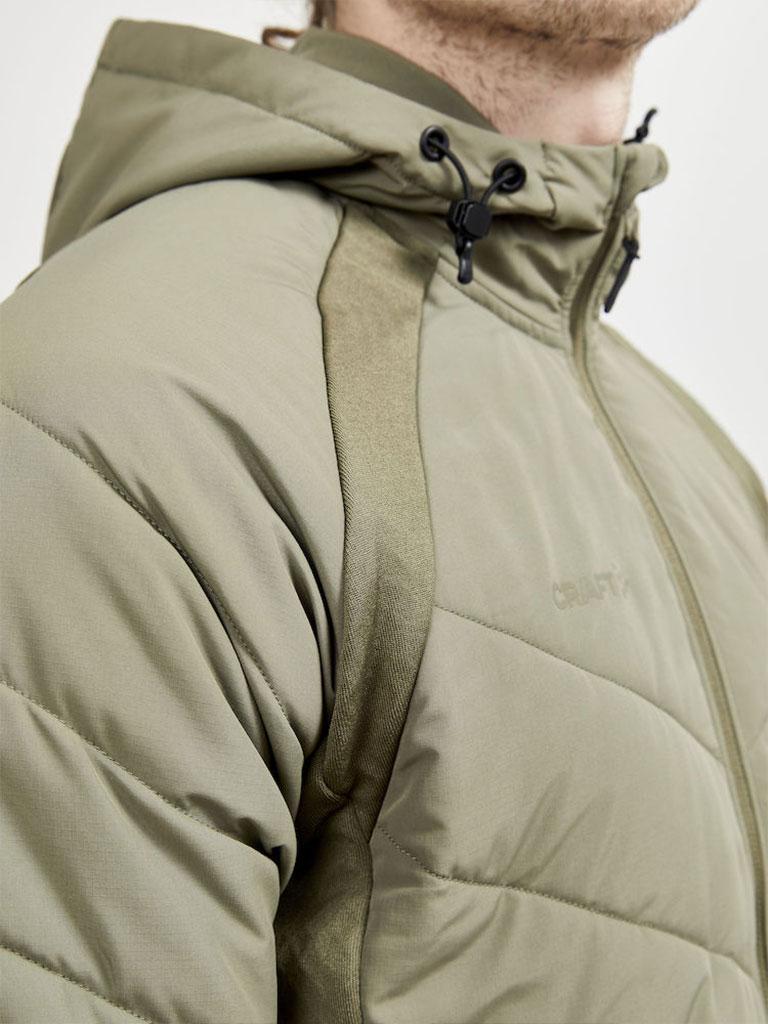 Craft dunjakke, olivengrønn, lettedunsjakke,vinterjakke, profiljakke, jakke med logo, firmajakke, firmaklær, profilklær