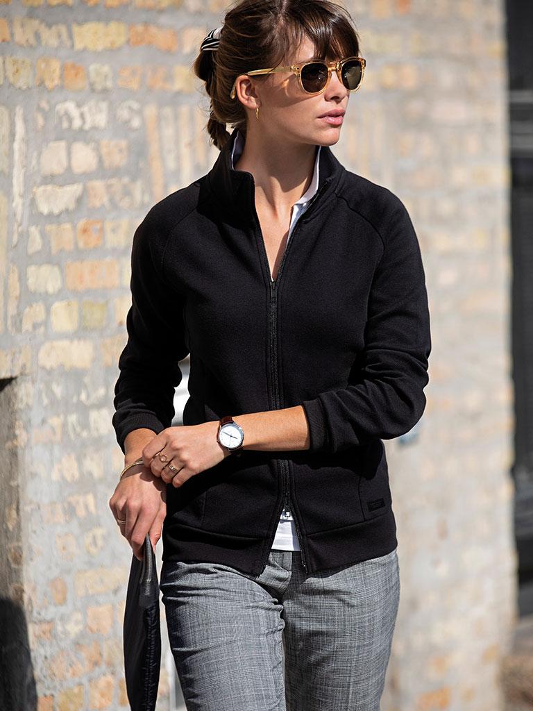 Dameskjorte med logo, Nimbus skjorte, sort
