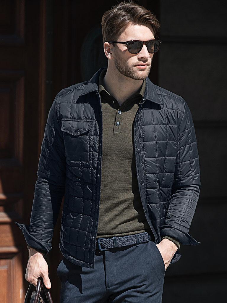 Nimbus businessjakke, firmajakke, jakke med logo, marineblå jakke, vaffeljakke