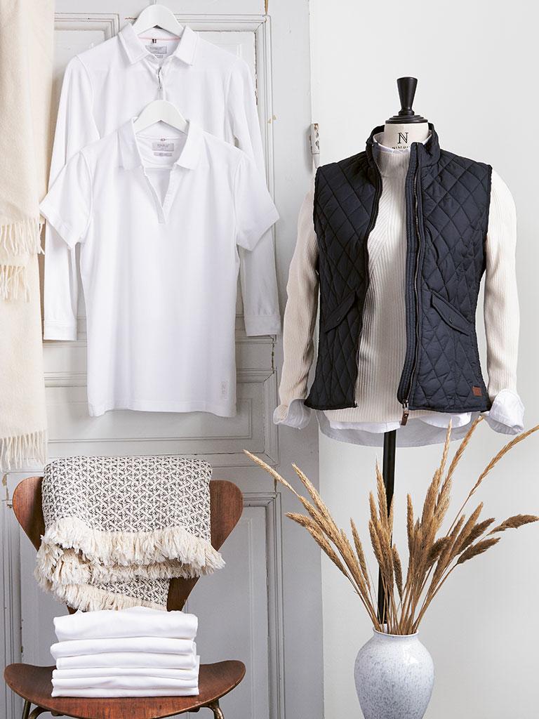 Nimbus firmaklær dame, arbeidsklær dame med trykk, piquetskjorte med logo, vest med logo, trykk