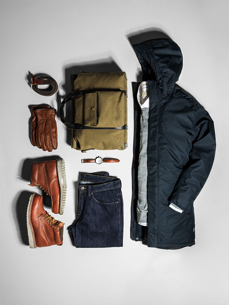 Nimbus business bekledning med logo, pc veske med firmalogo, businessjakke marineblå, sko, skjorte