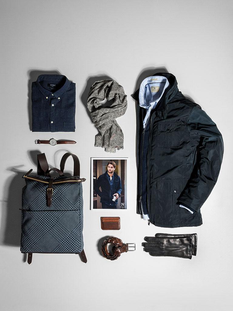 Nimbus firmaklær, arbeidsklær, dressbekledning, jakke, skjorte, pc veske, skjerf, klokke med logo